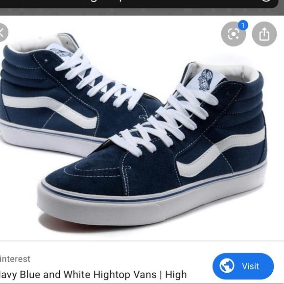 Vans Shoes | Vans Hightop Dark Blue